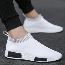 BJYL 2019 Spring Autumn new mens casual shoes breathable and comfortable knitted fashion flat sneakers B207