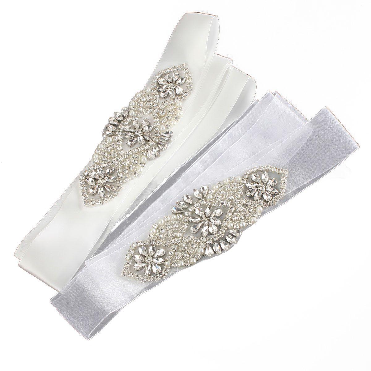 wedding chair sash accessories golden lift mypf crystal bridal beaded jeweled rhinestone belt