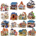 Kids Toys Jigsaw 3D Puzzle House Building Wooden Toys Chalets Wood Toy Puzzles Baby Montessori Toys brinquedos