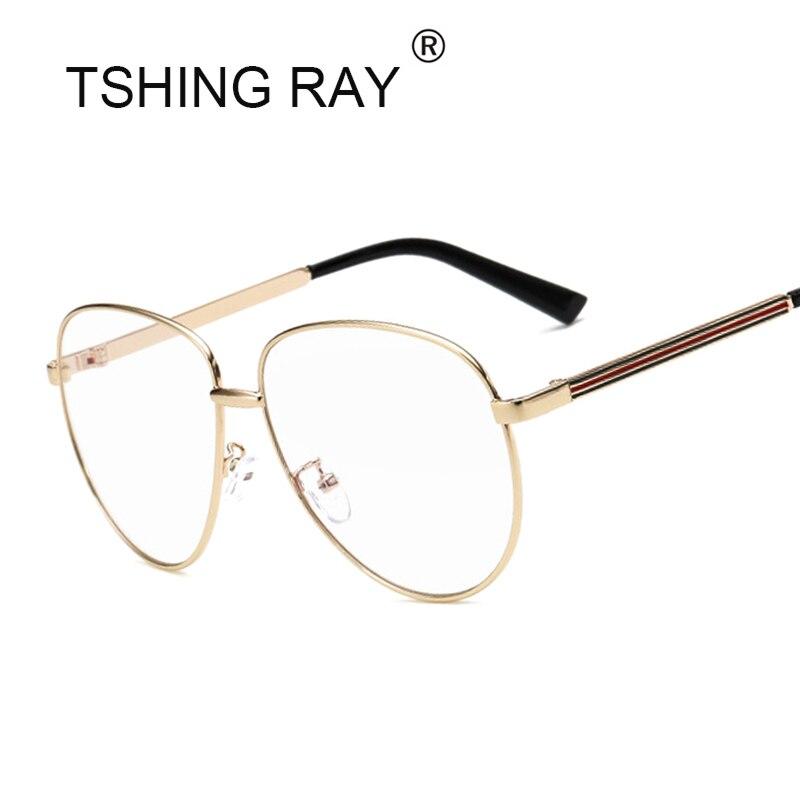 Cubojue Oversized Glasses Women Male Optical Clear Eyeglasses Frame ...