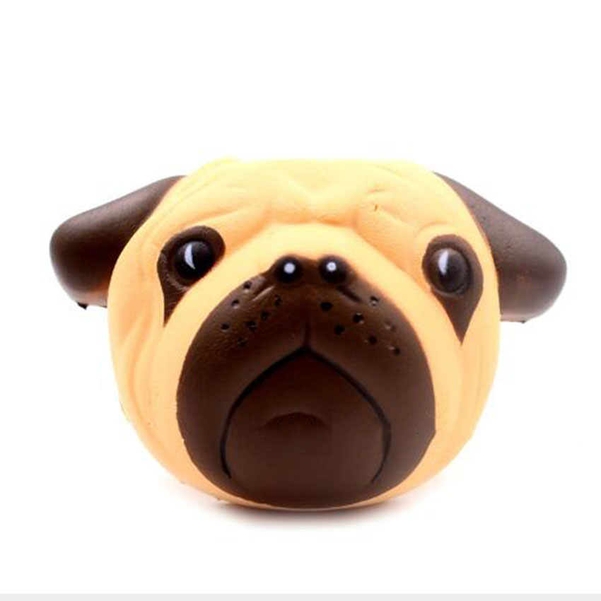Mobile Phone Straps Orderly Fun Antistress Ball Pug Mini Squishy Dog Squeeze Slow Rising 8cm Squeeze Stretchy Animal Healing Stress Kids Adults Toys