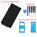 Black LCD For Sony Xperia Z1 L39 L39H C6902 C6903 LCD Display Touch Screen Digitizer assembly Adhesive Tape Free tools