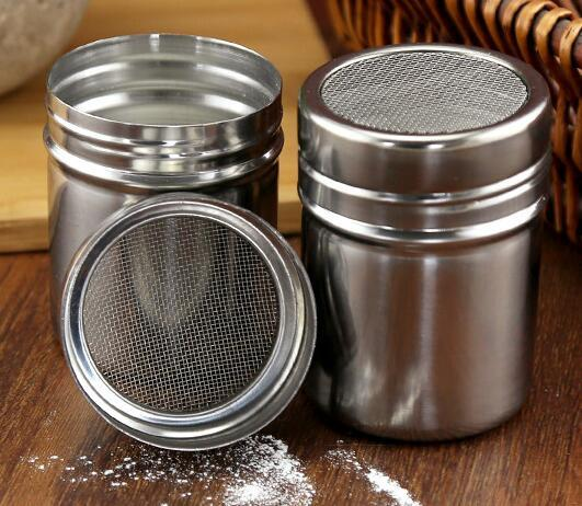 New Arrive Stainless Chocolate Shaker Cocoa Flour Icing Sugar Powder Coffee Sifter Lid Shaker Kitchen Cooking Tools