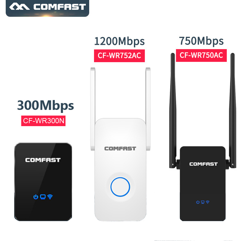 Wireless Repeater 5ghz Dual Band Comfast 150Mbps-1200mbps 802.11ac wifi repeater router wifi siginal  Range Expander wifi router(China)