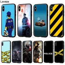 Lavaza Police Symbol Silicone Soft Case for iPhone 11 Pro XS Max XR X 8 7 6 6S Plus 5 5S SE(China)