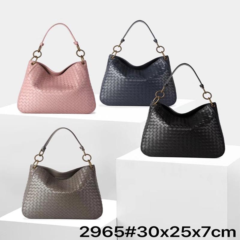 2019 NEW bucket bag Sheepskin leather handbags women bag shoulder bag top handle bags Weave handbag