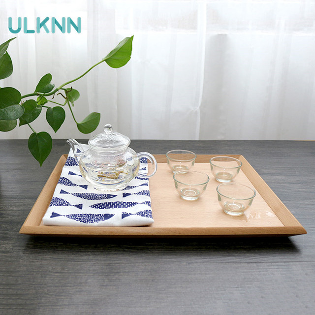 Japan Style Beech Wood Storage Serving Tray for Tea/Dinnerware/Dish Wooden Tableware Restaurant : storage for dinnerware - pezcame.com