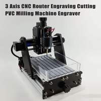 3 Axis CNC Router Engraving Cutting PVC Milling Machine Engraver + 500mW Laser Mini Marking Machine Advanced Toys