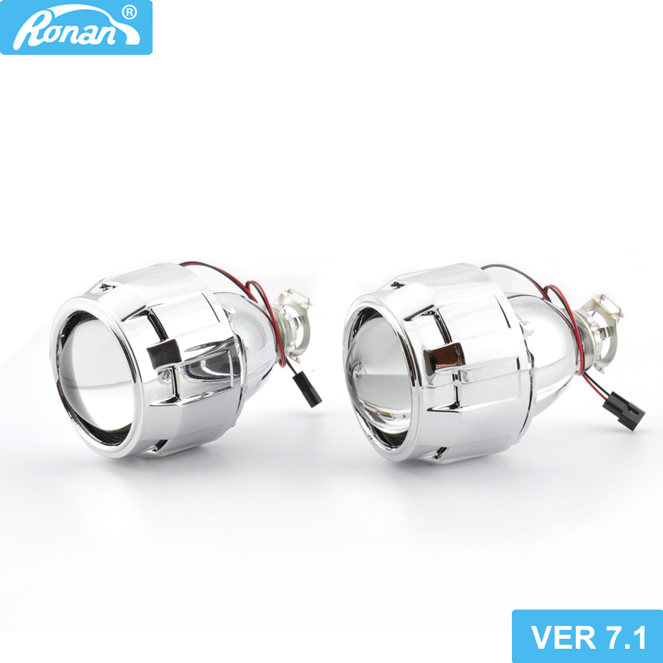 Ронан 2,5 обновления 7,1 версии 8,1 Биксеноновая объектив проектора стайлинга автомобилей фар модернизации DIY H4 H7 фары линзы Применение H1 лампы