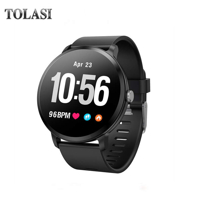 V11 Smart watch IP67 Waterproof Tempered Glass Activity Fitness Tracker Heart Rate Monitor BRIM Men Women Fitness Smart watch