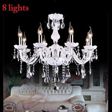 3/6/8-/.. Crystal Chandelier E14-Light Living-Room-Light Modern Led Vintage White