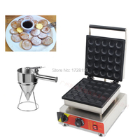 Commercial Nonstick 110v 220v Electric 25pcs Poffertje Mini Dutch Pancakes Machine Maker Baker w/ Batter Dispenser
