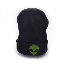 New Year Gift Alien Winter Hat 2016 Knit Hats For Women And Men Casual Embroidery Cotton skullies beanies caps