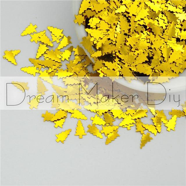 2000 stks (25g) 5*8mm Kerstboom Vorm Groothandel Losse Pailletten Scrapbooking Craft Glitter Confetti decoratie