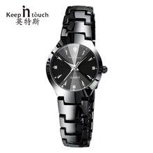 В курсе Роскошные Кварцевые Для женщин Часы дизайнер Светящиеся женские наручные часы со стразами женские часы браслет Relogio feminino