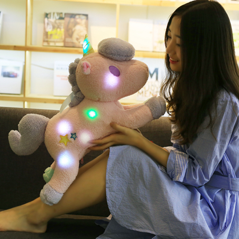 55cm Led Toy Luminous Unicorn Plush Cuddle Pet Pillows Sky Night Light Glow In Dark Sleep Light Kids Light Up Plush Toy Stuffed Plush Animals Aliexpress