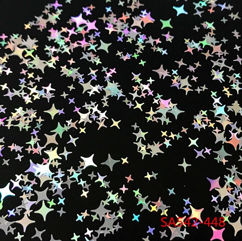 Nagelglitzer Nails Art & Werkzeuge ZuverläSsig Vier Winkel Sterne Form Mix Größe Nagel Glitter Pailletten Für Nail Art Dekoration Make-up Facepainting Nagel Gel Manuelle Diy Dekoration Warmes Lob Von Kunden Zu Gewinnen