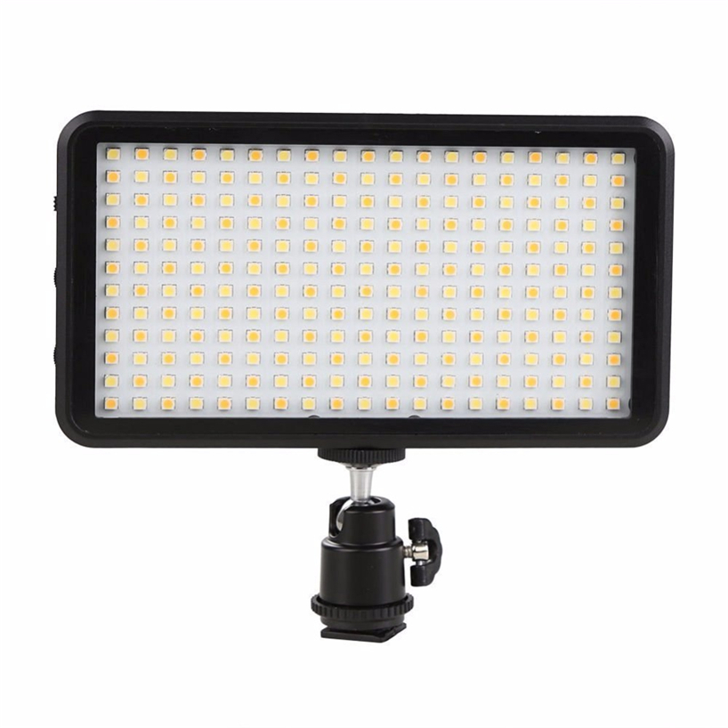 SUPON LED Light 228 LED Video Light Panel for Camera DV Camcorder 3200-6000K Black Case Hot kit maquiagem цена