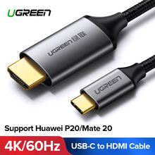 Ugreen USB C HDMI Cable Type C to HDMI Thunderbolt 3 for MacBook Samsung Galaxy S9/S8 Huawei Mate 20 P20 Pro USB-C HDMI Adapter