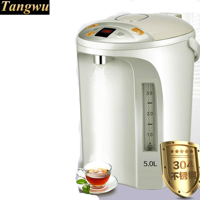 NEW  High quality Electric thermos 5l insulated home thermostat 304 stainless steel electric kettle Safety Auto-Off Function
