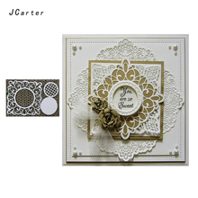 JCarter Mesh Lace Circle Frame Cutting Dies for Scrapbooking DIY Album Embossing Folder Cards Photo Template Background Stencil