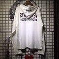 KOM novo vetements 17ß Seul Coreia Do Sul Melhor qualidade Branco Justin bieber Hoodies longa com capuz t shirt das mulheres dos homens de grandes dimensões SL