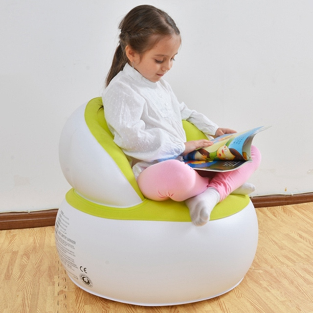 Inflatable Chair Kids Air Seat Chair Reading Relax Bean Bag Inflatable  Beanbag Home Living Room Sofa
