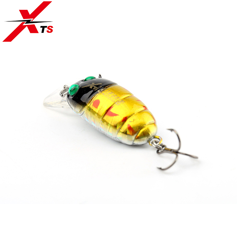 XTS Topwater Lure Mini Crankbait Fishing Crank Fishing Lures 33mm 3 5g Minnow Floating Artificial Insect Hard Jerkbait 3505 in Fishing Lures from Sports Entertainment