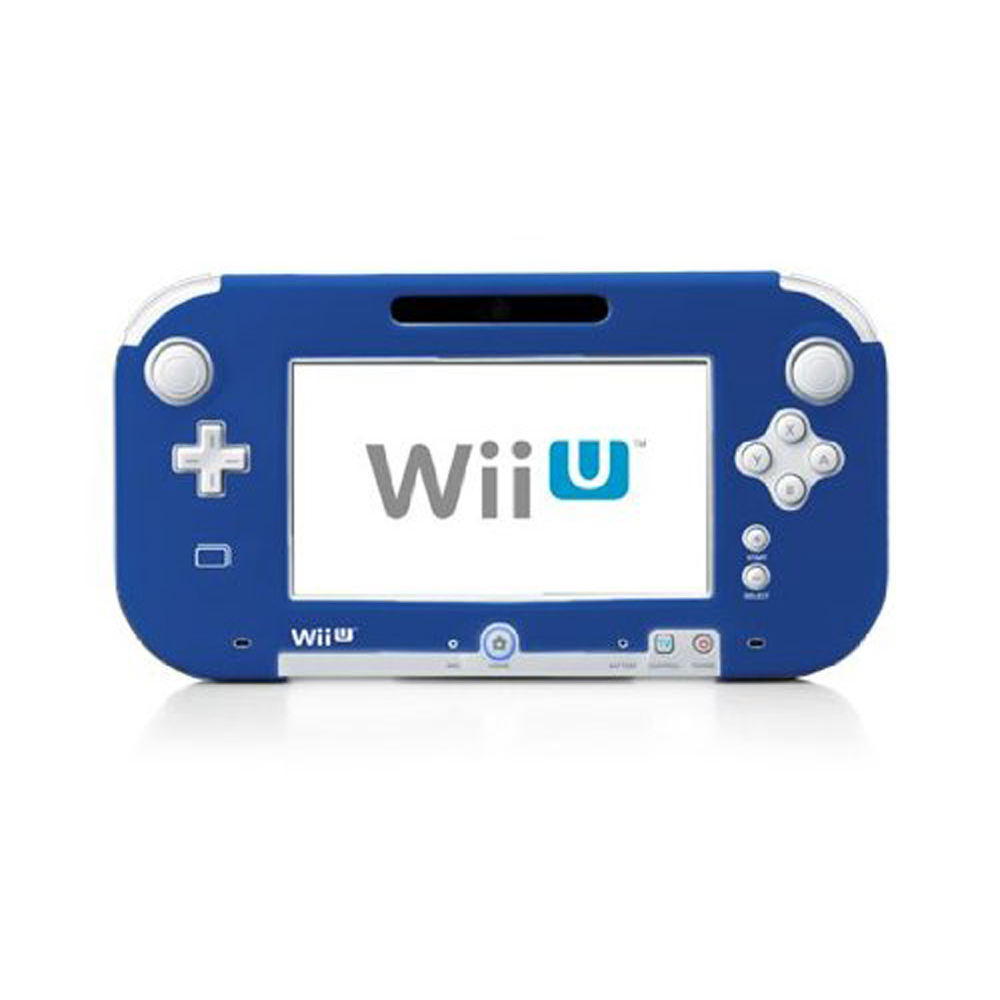 4 Colors Silicone Rubber Case For Wii U Console Protector Ultra Soft Gel Cover Skin Shell For Nintend WiiU Gamepad Accessories