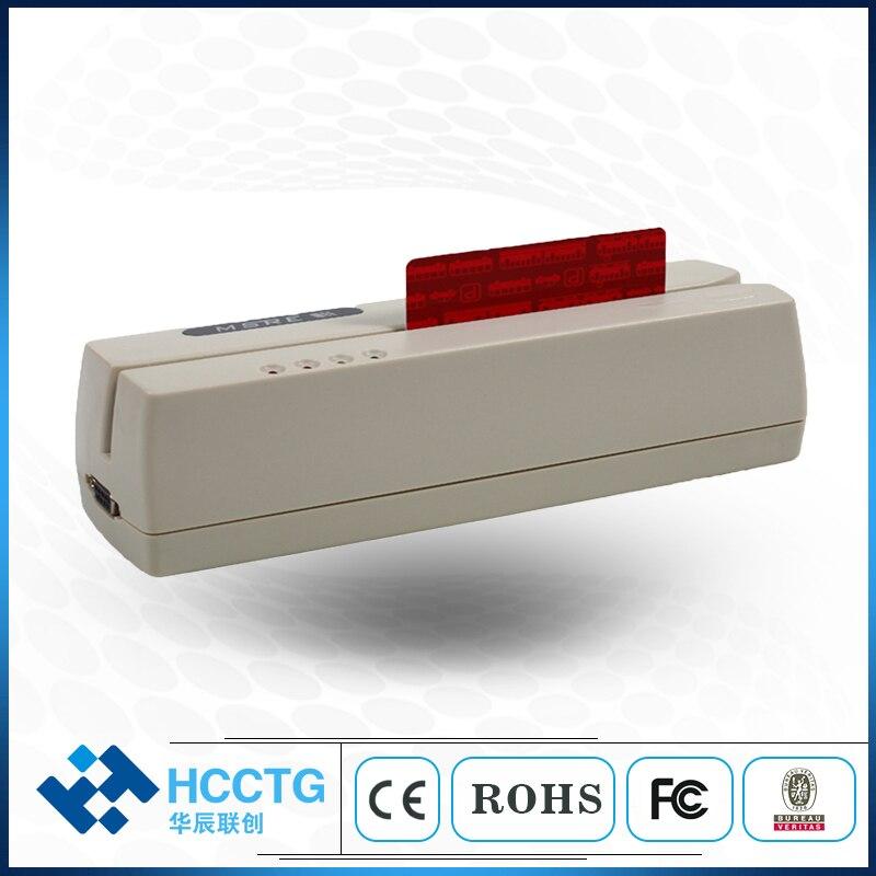 Lecteur de carte magnétique USB MSR à balayage manuel hi-co & lo-co Triple pistes HCC206