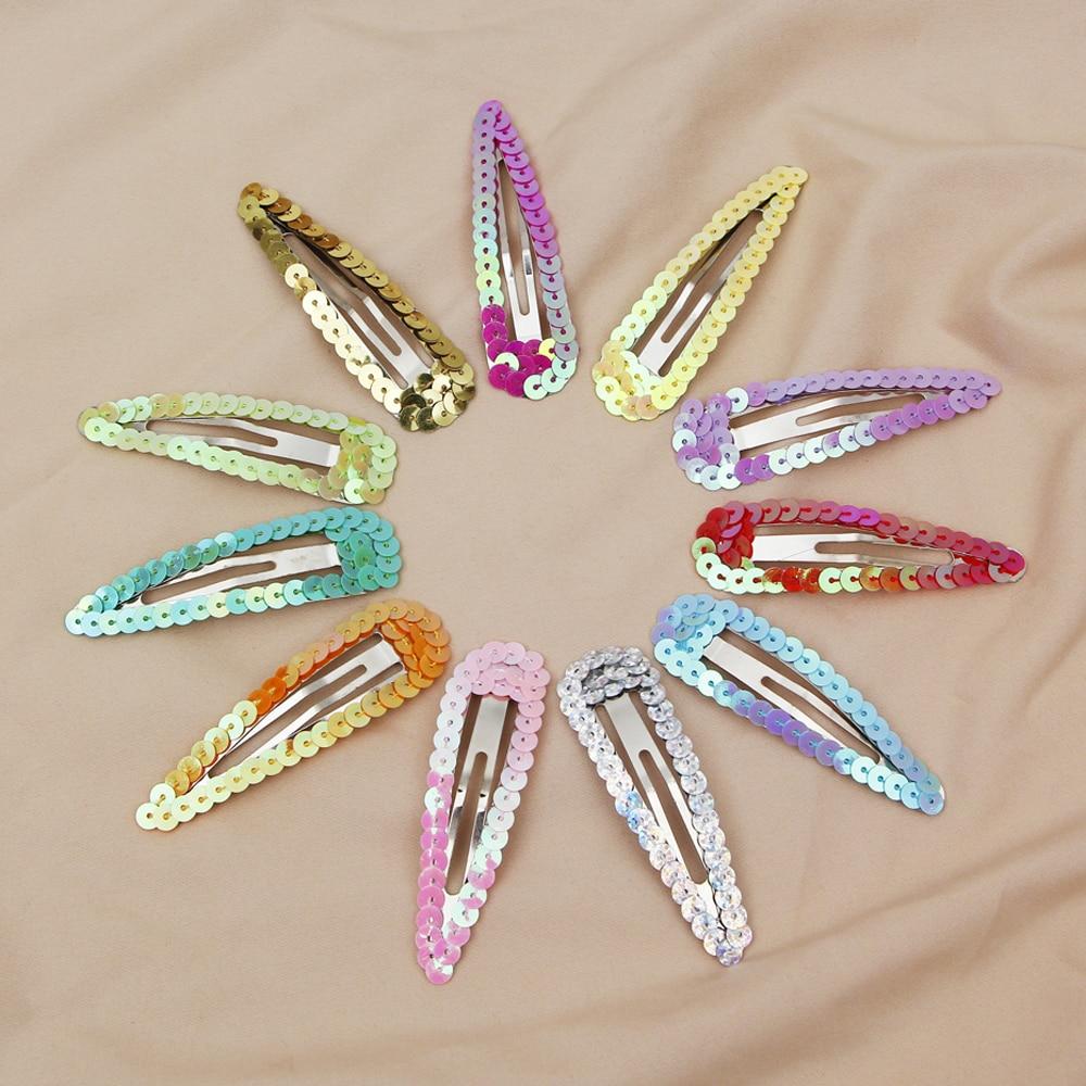 Snap Accessories Pin Fashion Women 2Pcs Colorful Hair Clips Barrette
