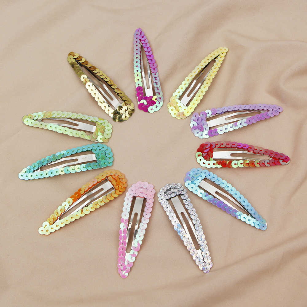 2pcs Snap คลิปผมสีเมอร์เมดผู้หญิงอุปกรณ์เสริมผมดาวเดียวกัน Hairpin แฟชั่นเครื่องประดับผมโลหะ barrettes