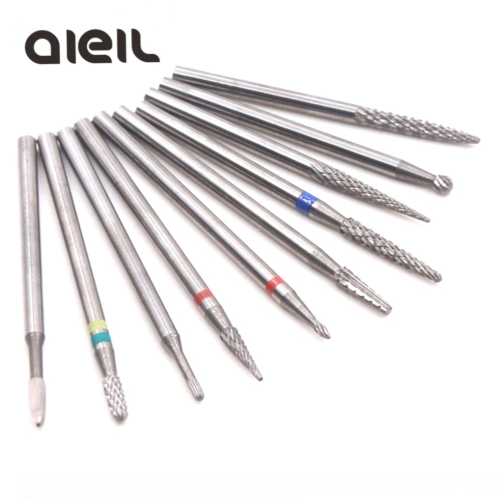 Nail Drill Bits Carbide Ceramic Cutters For Manicure Machine Apparatus For Manicure Cutters For Pedicure Milling Cutter For Nail