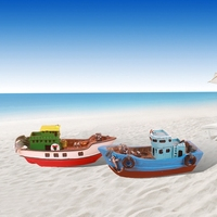 Mediterranean Sail Boat Oranment Home Decoration Boat Manualidades Exquisite Unique Wood Home Decor Wooden Crafts Gifts