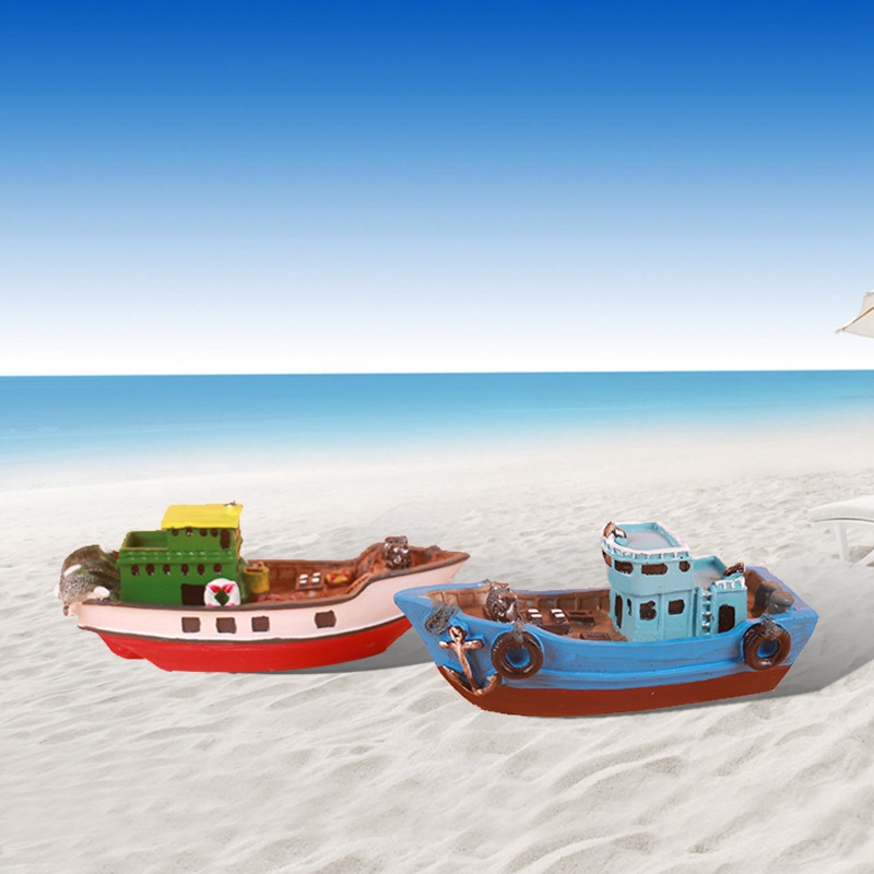 Mediterranean Sail Boat Oranment Home Decoration Boat Manualidades Exquisite Unique Wood Home Decor Wooden Crafts Gifts For Kids
