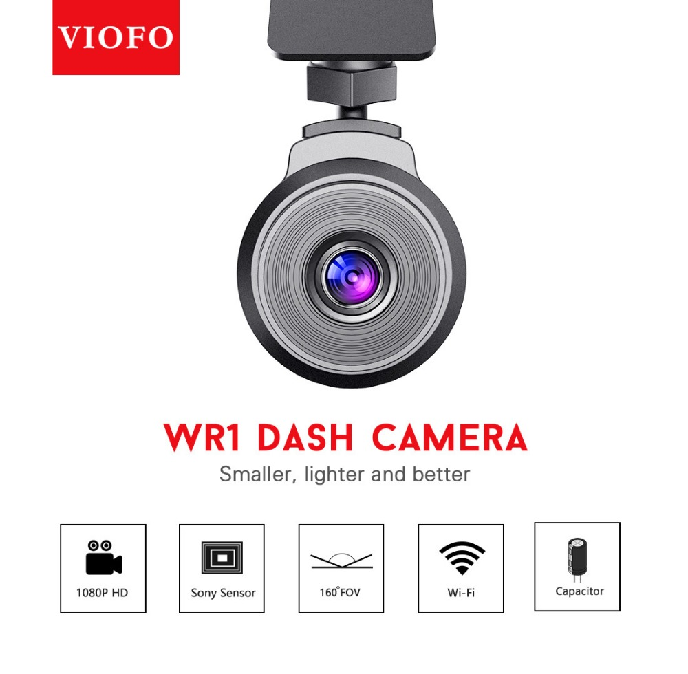 Original Viofo WR1 Wifi Car DVR Full HD 1080P Dash Camera Recorder Novatek 96655 160 Wide