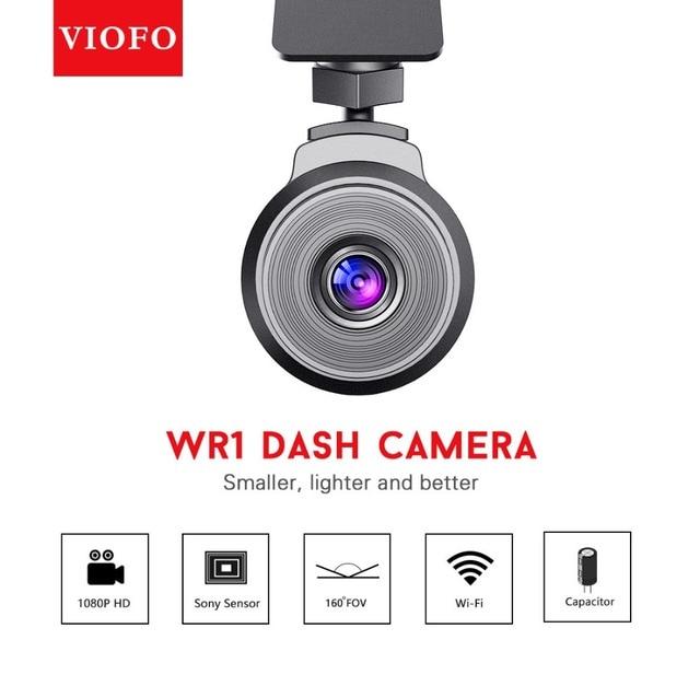원래 Viofo WR1 와이파이 커패시터 자동차 DVR 풀 HD 1080P 30fps 레코더 Novatek 96655 160 와이드 앵글 사이클 녹음 대시 카메라