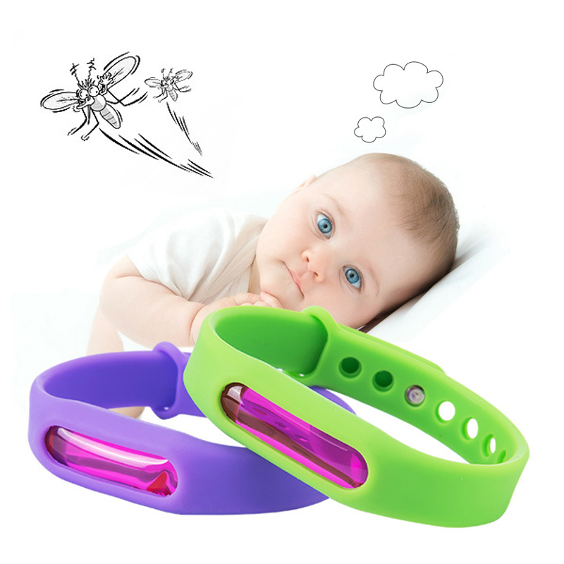 Hot Colorful Environmental Protection Silicone Wristband Summer Mosquito Repellent Bracelet Anti-mosquito Band Safe For Child