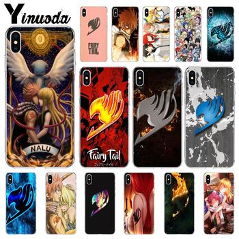 Yinuoda Anime Manga Fairy Tail logo TPU Soft Silicone Phone Cover for Apple iPhone 8 7 6 6S Plus X XS MAX 5 5S SE XR Cellphones image