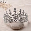 Chran Women Tiara Austrian Rhinestone Crown Queen Diadem Bridal Wedding Hairwear Pageant Prom Vine Wedding Headband Hair Jewelry