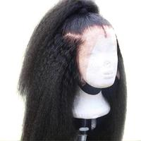 ROSELOVER Kinky Straight Wig 13*6 Lace Front Human Hair Wigs Full End Brazilian Lace Wig 150 Density Yaki Human Hair Wig