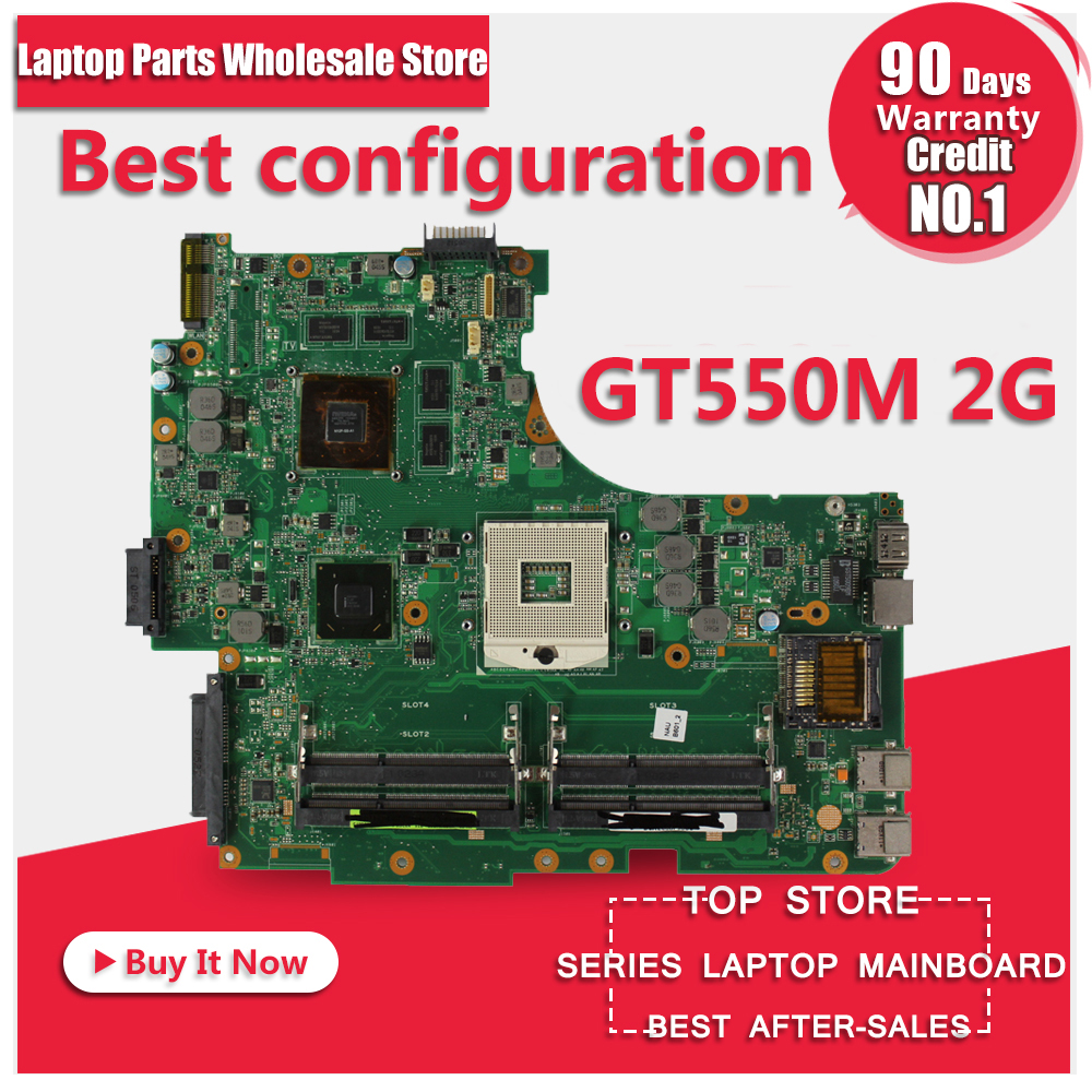 N53SN Carte Mère GT550M 2 gb RAM Pour ASUS N53 N53S N53SV N53SM Mère d'ordinateur portable N53SN Carte Mère N53SN Carte Mère test 100% OK