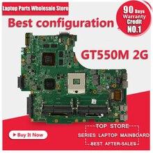 N53SN материнской GT550M 2 ГБ Оперативная память для ASUS N53 n53s N53SV N53SM Материнская плата ноутбука N53SN плата N53SN материнской Тесты 100% OK