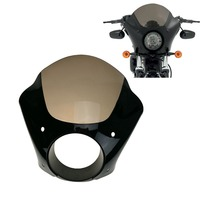Motorcycle Black Gauntlet Headlight Fairing W Trigger Lock Mount Kit For Harley XL 1200 883 New