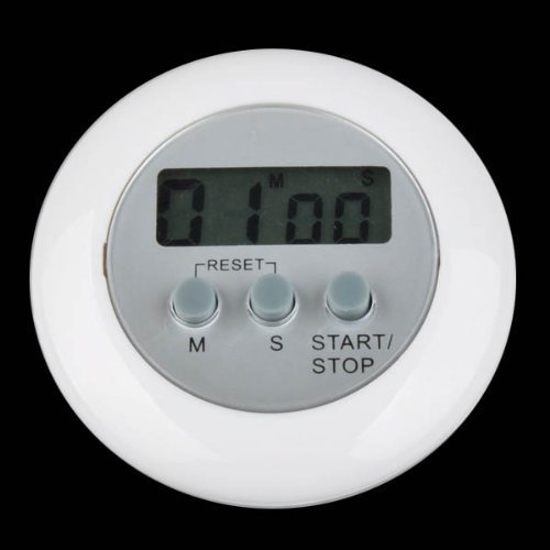 Digital LCD Timer Stop Watch Kitchen Cooking Countdown Clock Alarm White the timer in the kitchen
