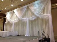Бесплатная доставка Чистый белый свадебный фон Ice Шелковый занавес 10ft x 20ft