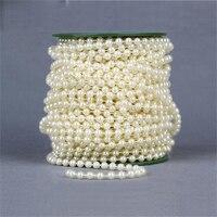 Darmowa Wysyłka 25 M 6 MM Piękne Plastikowe Ręcznie Kule Bukiet Panny Młodej akcesoria do Ślubu dekoracji Sztuczny Kwiat