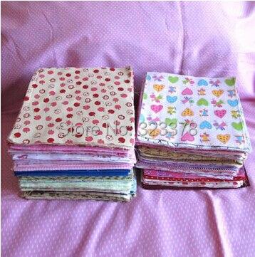 70 unids/lote 20*20 cm Llanura 100% quarter tela de algodón fat bundle tilda tel