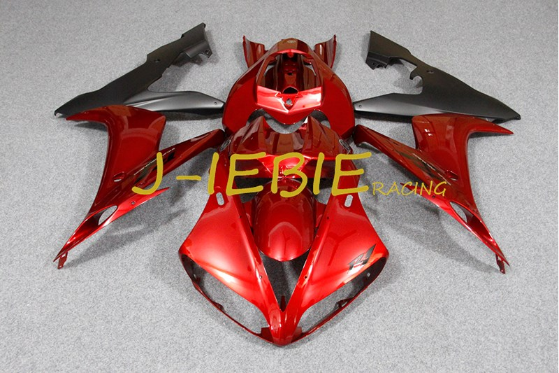 Red black Injection Fairing Body Work Frame Kit for Yamaha YZF 1000 R1 2004 2005 2006