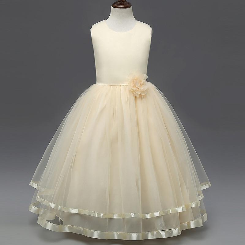 2b84106bd726 Kids Clothes Girls Flower Petals Dresses Bridesmaid Toddler Girl ...